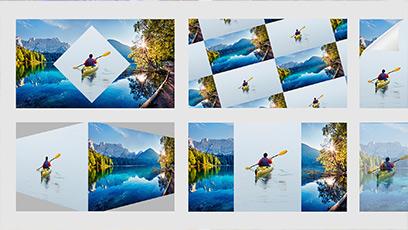 Illustration des collages qui prennent vie