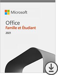 Microsoft Office Famille et Etudiant 2021