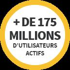 + de 175 millions d'utilisateurs actifs