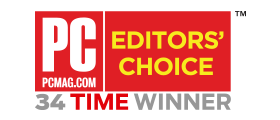 PCMag.com - Editors' Choice - 34 Time Winner